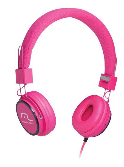 Fone De Ouvido Multilaser Headphone Handsfree, Ph088, Rosa
