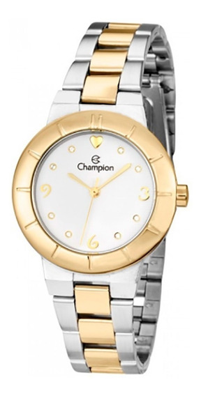 Relógio Champion Prateado E Dourado Feminino Ch26855b