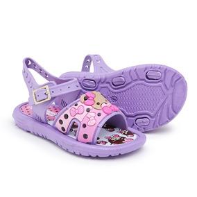 c497eb5af Sandalias Infantil Bibi Feminina Tamanho 20 - Sapatos 20 Lilás com o ...