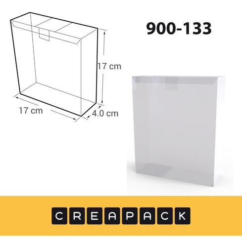 Imagen 1 de 3 de Caja De Acetato Pvc Transparentes 17 X 17 X 4 Cm (x20)