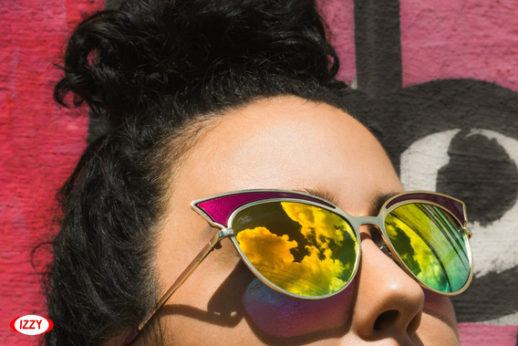 Oculos Solar Cat- Eye Com Proteção Uva / Uvb
