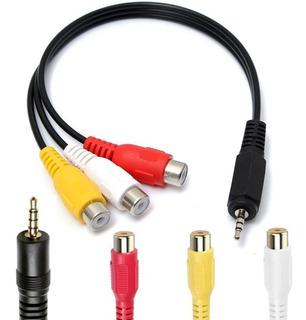 Cable Adaptador Mini Plug 3.5 A 3 Rca Hembra Audio Vídeo