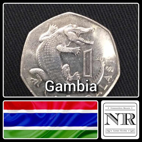 Gambia - 1 Dalasi - Año 1987 - Cocodrilo - Africa