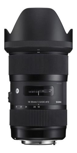 Imagem 1 de 3 de Lente Sigma 18-35mm F/1.8 Dc Hsm P/ Canon - Com Nf-e