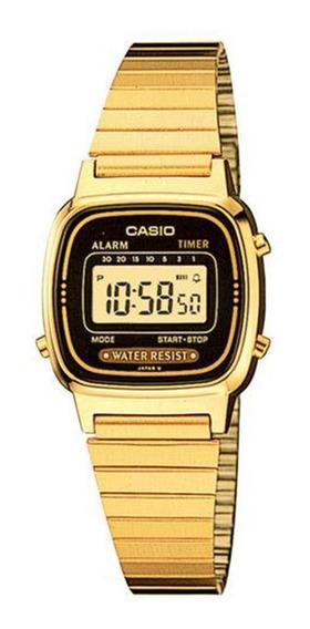 Relógio Feminino Digital Casio La670wga-1df - Dourado