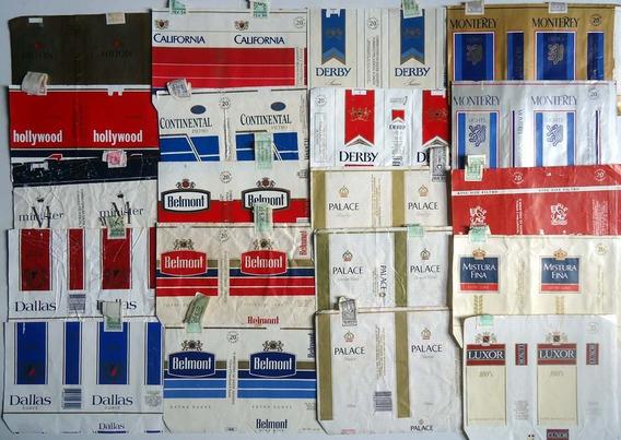 Lote Coleção Embalagens De Cigarros Antigos No Estado Leia