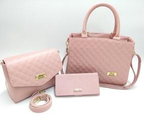 9b3027a93 Conjuntos Femininos - Bolsas Rosa com o Melhores Preços no Mercado ...