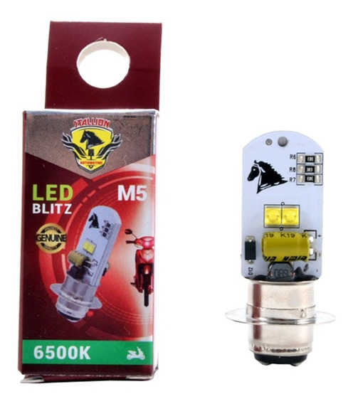 Lampada Farol Led M5 Biz 100 110 125 Pop Bros 09-12 Crypton