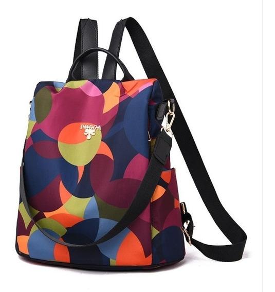 Bolsa Para Mujer Mochila De Dama Elegante Multicolor