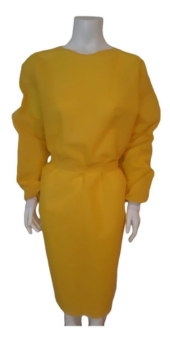 Jaleco Tnt Gramatura 40 Amarelo
