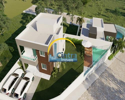 Vendo Casa Duplex Em Condomínio Em Lauro De Freitas, 4 Suítes, 154m² , R$ 569.000,00 Financia !!! - J047 - 2793918
