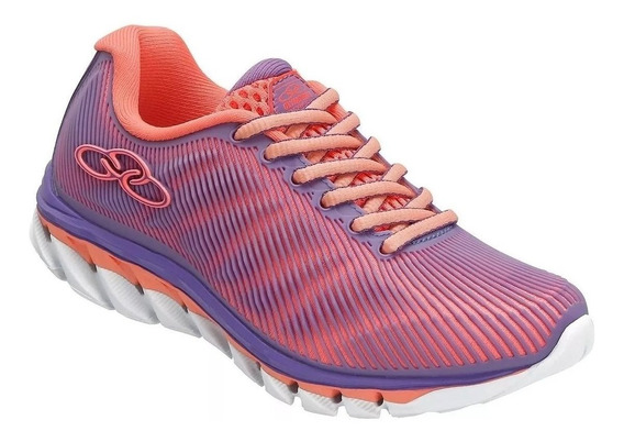 Zapatilla Olympikus Perfect Kids Training Coral/lila
