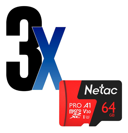 Cartão Memória Microsd 64gb Extreme Pro Netac 3un