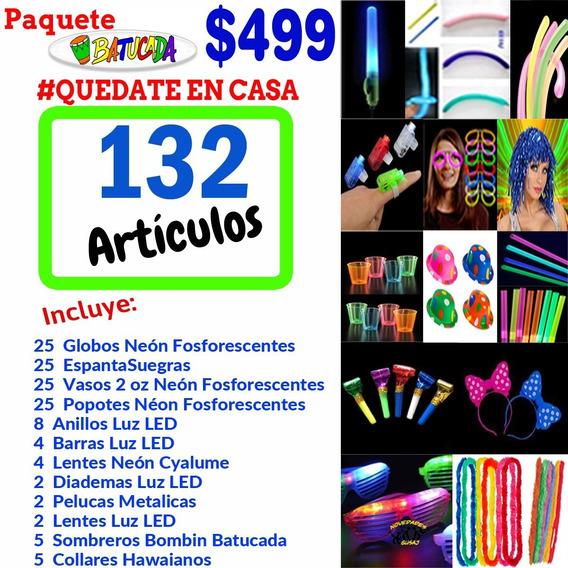 Paquete Batucada Fiesta Quédate En Casa Cuarentena Neon Led