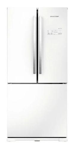 Geladeira/refrigerador 540 Litros 3 Portas Branco Frost Free Side Vitreous - Brastemp - 110v - Gro80abana