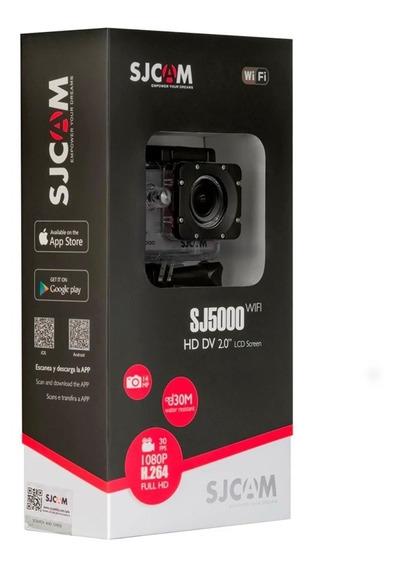 Câmera Sjcam Sj5000 Preta Full Hd Nova Lacrada Pronta Entrega #