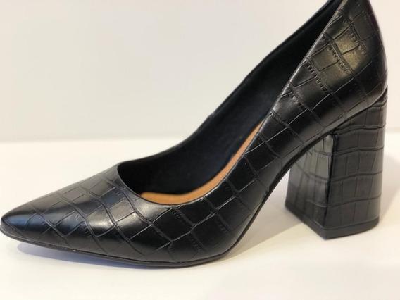 Zapato Stiletto Cuero Viamo Betiza Onix/beige 35 Al 40