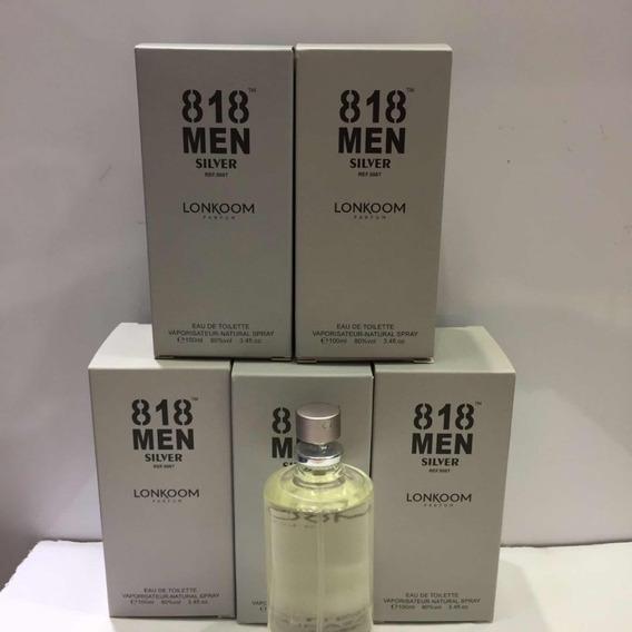 Perfume 818 Silver De 100ml,masculio,fragrançia De 212 Men