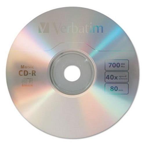 Disco Grabable De Música Cd-r De Verbatim, 700mb, 40x, 25 /