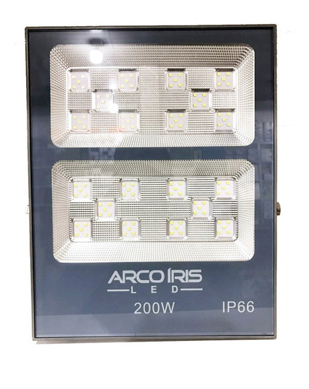 Refletor Led 200w Smd Holofote Multifocal Microled Jardim