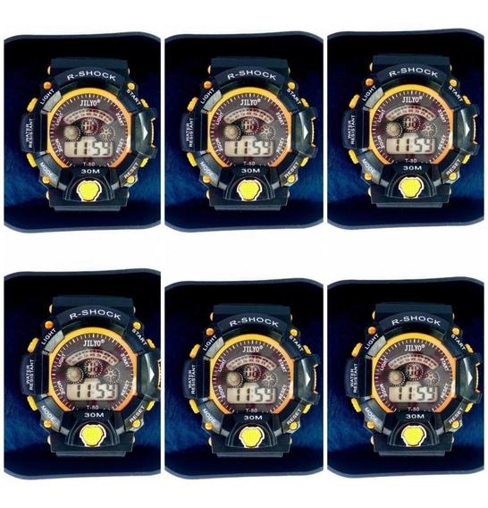 Lote C/10 Relógio Masculino Barato Digital Atacado Revender
