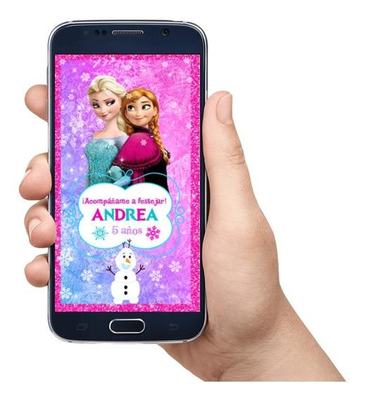 Invitación En Video Frozen Elsa Y Ana