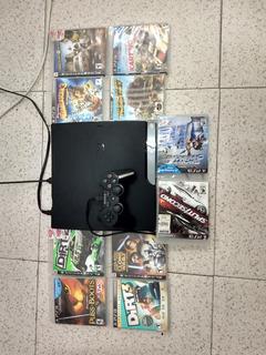 Ps3 Playstation 3 Slim 160gb, 10 Juegos