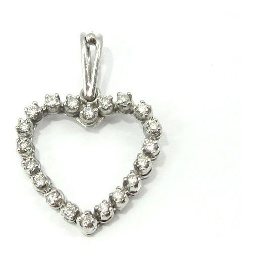 Joianete E9211-76271 Pingente Coração Brilhantes Ouro Branco