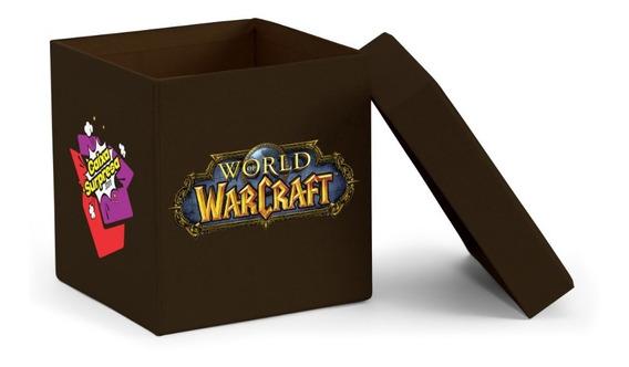 Caixa Surpresa World Of Warcraft 5 Itens Mdf Black Edition