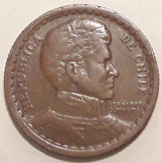 Chile Moneda De Cobre Año 1943 - 1 Peso Muy Buen Estado+