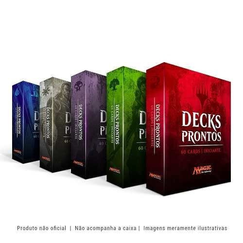 4x Decks De Magic Prontos Para Jogar - Português +10 Brindes