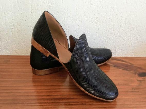 Zapatos Chatitas De Cuero
