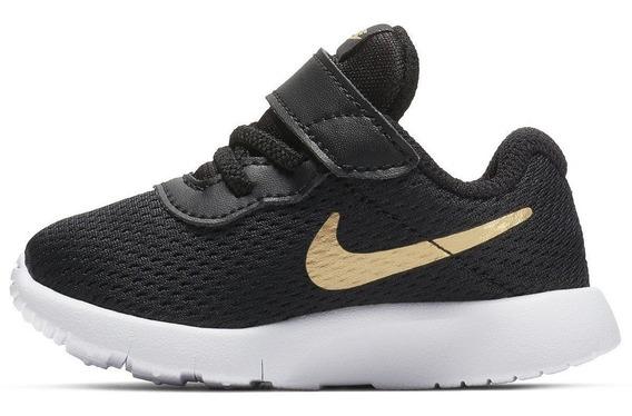 Tenis Nike Tanjun Negro/dorado Bebe 818383-016 Nkj104