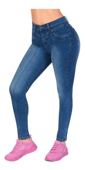 Jeans Stretch Levanta Pompas