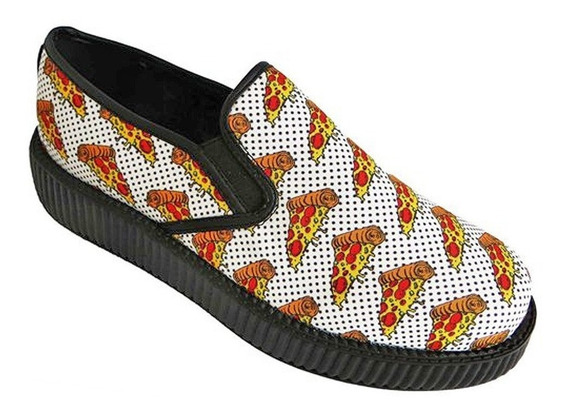 Zapatos Tuk V8892 Creepers Tenis Pizza Unicornio Tornasol