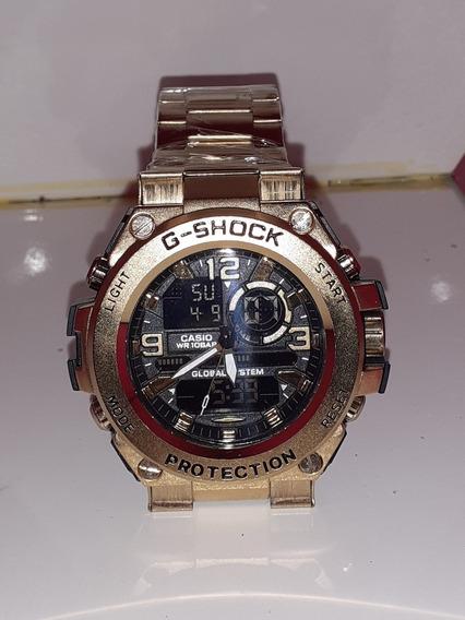 Relogio G Shock Metal Dourado 100% Funcional