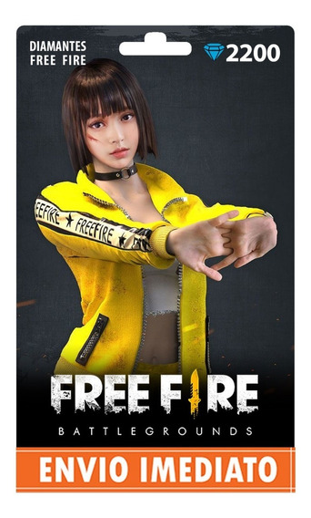 Free Fire 2200 Diamantes + 10% Bônus Recarga P/ Conta