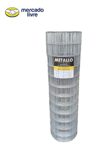 Tela Soldada Multiuso Fio 1,65mm Metallo Galvanizada 1,50mt