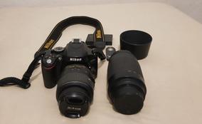 Nikon D 5100 Com Lentes 18-55mm E 70-300mm