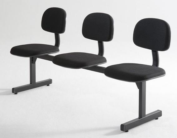 Conjunto Cadeira 3 Lugares Recepção Longarina Secretária