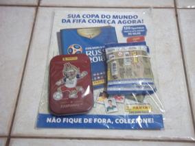 Lote De 24 Envelopes De Figurinhas Copa 2018 + Lata Zabivaka