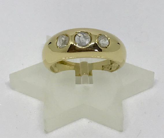 Glitter Joias - Anel Dedinho Ouro Com 31 Pontos Diamantes