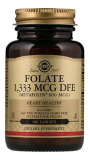 Metilfolato Folato Acido Folico 800mcg Solgar