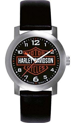 Harley Davidson 76a04 Reloj De Cuarzo Para Hombre Con Esfera
