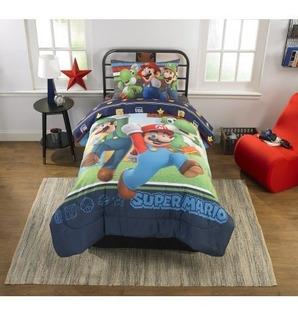 Edredon Con Sabanas Super Mario Bros