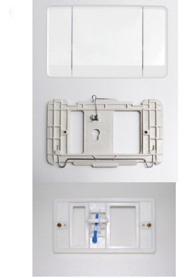 Kit Montana Elegance Espelho Branco Tampa Externa Mecanismo