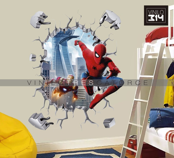 Vinilo Decorativo 3d, Avengers Spiderman 41, Sticker 115x90