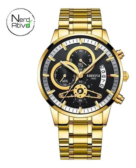 Relógio Nibosi: Cronógrafo Original 2309.1 Frete Grátis #na