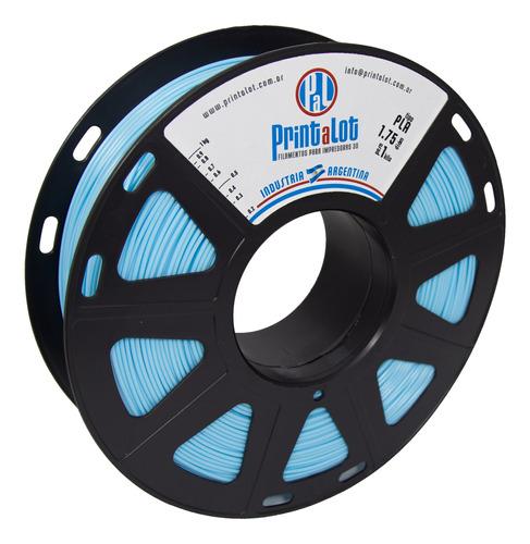 Imagem 1 de 5 de Filamento 3d Pla Printalot 1kg 1,75mm - Azul Celeste
