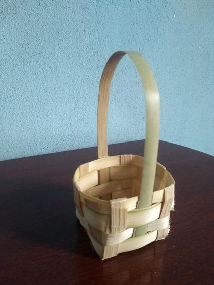 Kit 30 Cestas De Bambu 5x5 Lembrancinha E Decoração